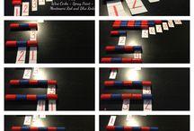 Montessori belki czerwone, belki numeryczne