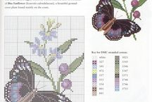Вышивка крестом - Бабочки