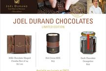 Chocolate  / Joël Durand Gourmet Chocolate available exclusively at O&CO.