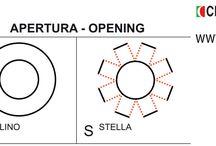 Minuterie metalliche, fibbie e ornamenti: Occhielli / Sezione del catalogo generale dedicata a minuterie metalliche, fibbie e ornamenti: Occhielli. Eyelets.