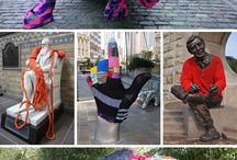 Yarn Bombs / Knitted and crocheted public art