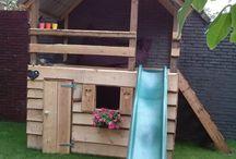 Speelhuis voor in de tuin