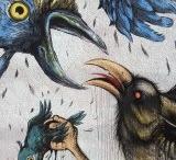 ERICAILCANE / # Creadores locales. Al contrario que los artistas anteriormente citados, Ericailcane no pertenece a la escena del arte urbano gallega, pues procede de Bologna (Italia). Sin embargo, la obra resultante de su paso por el Desordes Creativas en la edición 2012, necesariamente, debía formar parte de este análisis, de ahí que el artista se incluya en este apartado.