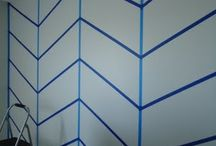 chevron wall for guest room