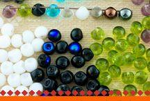 Mushroom Button Czech Glass Beads