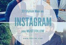 GUIDE// 33 STYLISH MEN TO FOLLOW ON INSTAGRAM / GUIDE from BIRLINE// We bring you a handpicked selection of stylish men from around the world. You won't be disappointed! #dapper #mensfashion