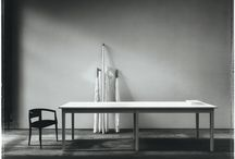 """Bulo Carte Blanche_Table Blanche / Fashion designer Ann Demeulemeester designed a table with the virginity of unpainted canvas. """" I wanted to return to the pure form of a table, like a child would draw it """"."""