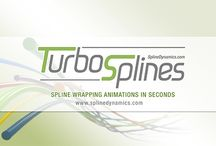 TurboSplines 3ds Max script / TurboSplines is a 3dsMax script for creating multiple spline wrapping animations (aka. path deform animations) incredibly fast. Automate and simplify the creation, edition and animation of path deformed meshes.