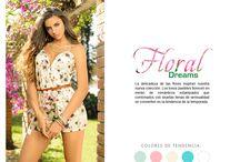 Floral Dreams / La delicadeza de las flores inspiran nuestra nueva colección. Los tonos pasteles florecen en medio de románticos estampados que combinados con siluetas llenas de sensualidad se convierten en la tendencia de la temporada.