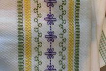 havlu bordür / Nakış isleme kanaviça hesapişi