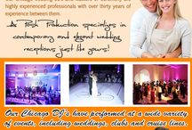 Chicago DJ / Visit this site https://twitter.com/RentalBooth for more information on Chicago DJ. Your wedding Chicago DJ will guide your reception. Professional wedding disc jockeys announce the couple's arrival, the couple's first dance, the father-daughter dance, the cake-cutting ceremony, and, at the end of the reception, the couple's departure.
