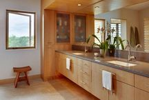 Bathing / Beautiful bathroom ideas and ecological materials & fixtures