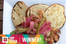 "#TopTater Weekly Photo Winners / It's delicious. It's memorable. It's different. It's a potato dish that makes you go ""YUM!""   Snap a photo, tag it with #TopTater and you could win $100 that we are giving away every week! Enter your photo here: http://bit.ly/1tMf9lN  / by Potato Goodness"