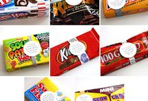 cards with candy