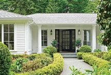 white home idea black trim