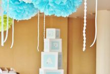 Boy's christening decoration