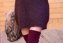 Бордовое платье свитер