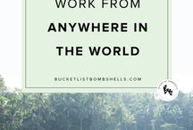 Nomadic life / We want to join the remote revolution, becoming digital nomads. Working whilst travelling. Working from remote locations. Living life on the road. Tips for getting paid to travel. How to quit your job to travel.
