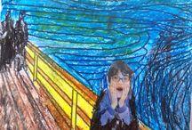 The scream-Edvard Munch / Γνωρίζοντας τον Munch Εικαστικές δημιουργίες των μαθητών του 7ου ΔΣ Νίκαιας www.7dimotikonikaias.blogspot.gr