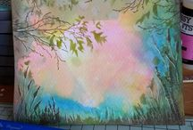 Backgrounds using Oxide inks