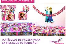 Fiesta de Frozen / Ideas y artículos para tu fiesta de Frozen.