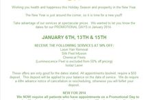 January 2014 Specials and Announcements!