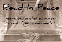 R.I.P. -READ IN PEACE  / Concorso Matisklo Edizioni