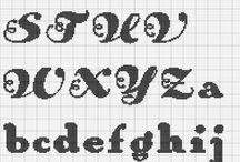 Letras en punto cruz