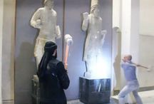 Fuck the ISIS! / Thousands of years of history destroyed by ISIS with sledgehammers in Iraqi museums in Neneweh province. This hurts! Certain countries in the region that don't have history and heritage at all would like to see Iraq's heritage vanish!