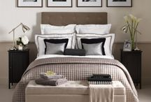 Guest bedroom / Inspiration for a guest bedroom with modern silver fittings and neutral/natural colour tones. Splashes or colour will be introduced via throws, pillows and other decor.
