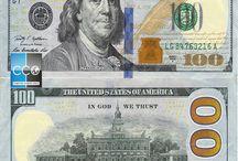 """Billets Etats Unis / Les billets dollars Américain en circulation sont :  1, 5, 10, 20, 50, 100 $. Il existe 3 séries (""""1928-1995"""", """"1996-2003"""", """"depuis 2004 la série actuelle""""), ces 3 séries sont en circulation et tous valables. Il existe les billets de 2 dollar mais c'est très rare de les trouver!"""