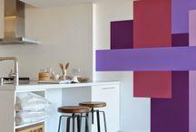 ideas de pintura decorativas en paredes....