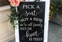 Wedding: Ceremony sign