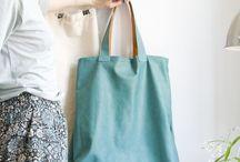 Turkusowa torba na lato / Turkus, lazur, woda.  Prosta, wygodna torba zapinana na magnes. W środku pomarańczowa podszewka. Na zamówienie #bespoke #lazur #turkus #lato #torba_na_lato #szyję#unikat #bytom