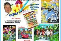 coloriages velours en relief / Le monde magique du coloriage velours en relief !