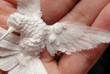 Paper sculptures / A collection of paper sculptures artworks