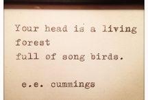 e.e.cummings, my main man / by Kayla Russell