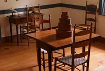 Shaker Furniture 1776-1850 / Minimalist designed furniture developed by the United Society of Believers in Christ's second appearing, known as the Shakers.  Their principles were simplicity, utility and honesty; English and American.