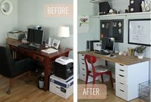 Home Office Ideas / Many small business owners work from home at least part of the time. How do you keep things organized and attractive? Follow this board for great home office ideas!
