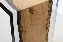 wood encased in Resin /