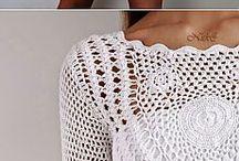 bluzki i sukienki na drutach i szydełku