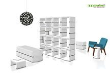 GROW! modular furniture / Designed in Paris. Manufactured in Germany. Endless possibilitites. From shelving to seating to partition, GROW! offers an easy way to create beautiful and functional interior settings that will transform your home or office into something extraordinary.