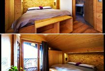 Woody interiors. / Woody chalets I'd like to live in. Smart interior design.