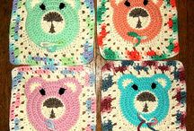 Crochet - Baby And Kids - Square Motifs !