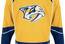 Nashville Predators - Official NHL Hockey Jerseys / We are the leading manufacturer of professional sports lettering & numbering and we have been selling officially licensed NHL jerseys and apparel via the internet since 1999. Visit: CoolHockey.com for more!