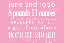 Invitations / Birth announcements, invitations, and other pretty printables. / by BabyBump
