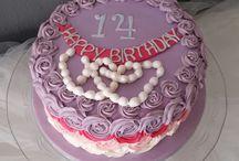 Tarta de Rosas y Perlas / Decoración de tarta con swiss butercream