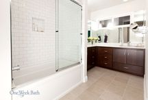 Bathroom Design 93 / A clean transitional bathroom design with classic subway tiles.