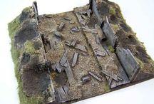 40k modelling inspiration terrain streets/trenches/rocks etc.