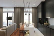 açık mutfak ve salon